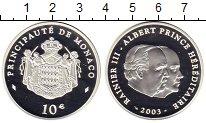 Изображение Монеты Монако 10 евро 2003 Серебро Proof