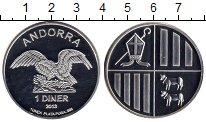 Изображение Монеты Андорра 1 динер 2013 Серебро Proof
