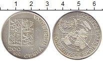 Изображение Монеты Чехия 200 крон 1995 Серебро UNC-
