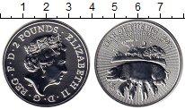 Изображение Монеты Великобритания 2 фунта 2019 Серебро UNC