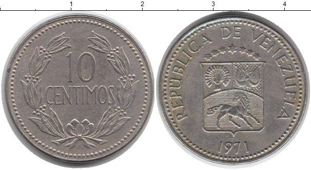 Картинка Монеты Венесуэла 10 сентим Медно-никель 1971