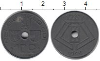 Изображение Монеты Бельгия 10 сантим 1946 Цинк XF