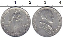 Изображение Монеты Ватикан 5 лир 1951 Алюминий XF