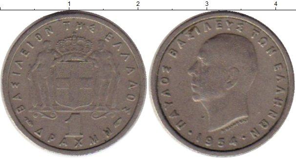 Картинка Монеты Греция 1 драхма Медно-никель 1954