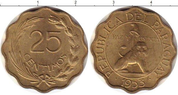 Картинка Монеты Парагвай 25 сентим Латунь 1953