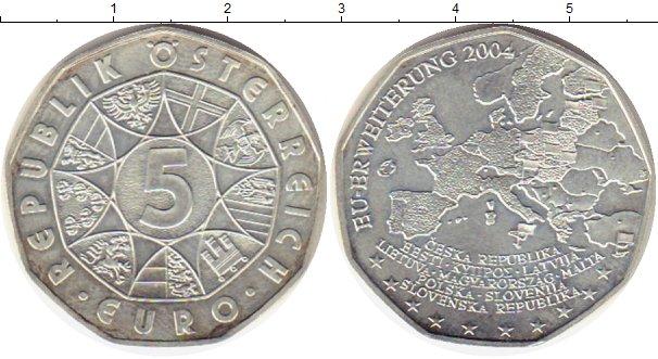 Картинка Монеты Австрия 5 евро Серебро 2004