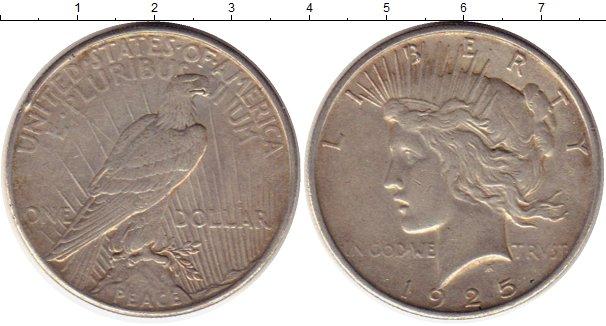 Картинка Монеты США 1 доллар Серебро 1925