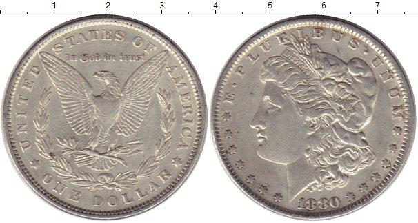 Картинка Монеты США 1 доллар Серебро 1880