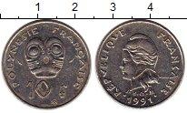 Изображение Монеты Полинезия 10 франков 1991 Медно-никель XF
