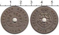 Изображение Монеты Великобритания Родезия 1 пенни 1940 Медно-никель XF