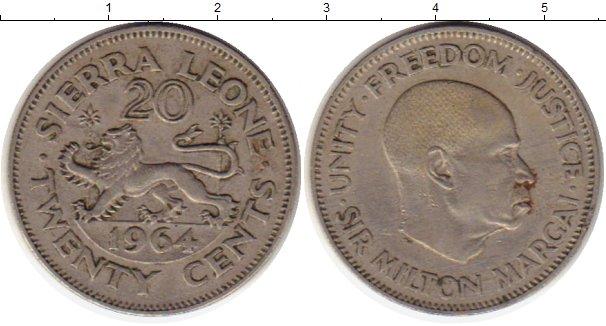 Картинка Монеты Сьерра-Леоне 20 центов Медно-никель 1964