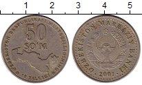 Изображение Монеты Узбекистан 50 сомов 2001 Медно-никель XF