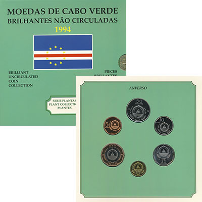 Изображение Подарочные монеты Кабо-Верде Набор 1994 года, Растения 1994  Proof Набор из шести монет