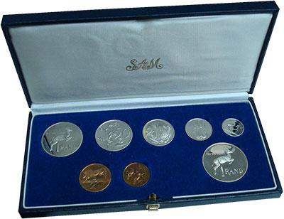 Изображение Подарочные монеты ЮАР Набор 1985 года 1987  Proof- Набор из семи монет