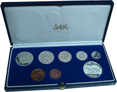 Изображение Подарочные монеты ЮАР Набор 1985 года 1985  Proof- Набор из шести монет