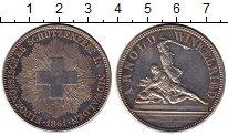 Изображение Монеты Швейцария 5 франков 1861 Серебро XF+
