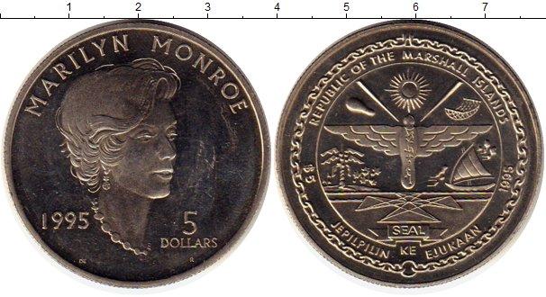 Картинка Монеты Маршалловы острова 5 долларов Медно-никель 1995