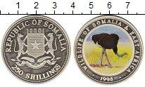 Изображение Монеты Сомали 250 шиллингов 1998 Серебро Proof-