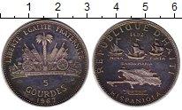 Изображение Монеты Гаити 5 гурдес 1967 Серебро Proof-