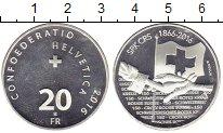 Изображение Монеты Швейцария 20 франков 2016 Серебро UNC-