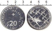 Изображение Монеты Швейцария 20 франков 2014 Серебро UNC-
