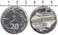 Изображение Монеты Швейцария 20 франков 2008 Серебро UNC-