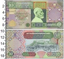 Банкнота Ливия 10 динаров 2002 UNC фото