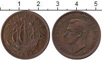 Изображение Монеты Великобритания 1/2 пенни 1937 Бронза XF