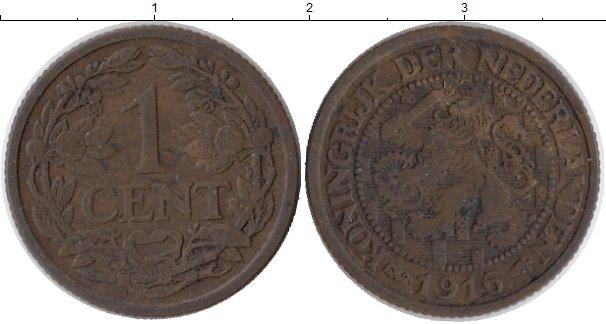 Картинка Монеты Нидерланды 1 цент Бронза 1916