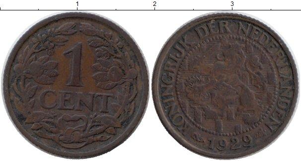 Картинка Монеты Нидерланды 1 цент Бронза 1929