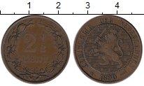 Изображение Монеты Нидерланды 2 1/2 цента 1890 Медь XF