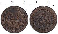 Изображение Монеты Нидерланды 2 1/2 цента 1906 Бронза XF-