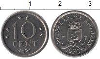 Изображение Монеты Нидерланды Антильские острова 10 центов 1970 Медно-никель UNC-