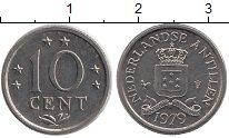 Изображение Монеты Нидерланды Антильские острова 10 центов 1979 Медно-никель UNC-