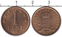 Изображение Монеты Нидерланды Антильские острова 1 цент 1975 Бронза UNC-