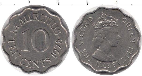 Картинка Монеты Маврикий 10 центов Медно-никель 1978