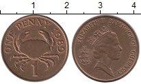 Изображение Монеты Великобритания Гернси 1 пенни 1989 Бронза UNC-