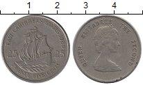 Изображение Монеты Великобритания Карибы 25 центов 1989 Медно-никель XF