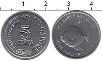 Изображение Монеты Сингапур 5 центов 1971 Алюминий UNC-