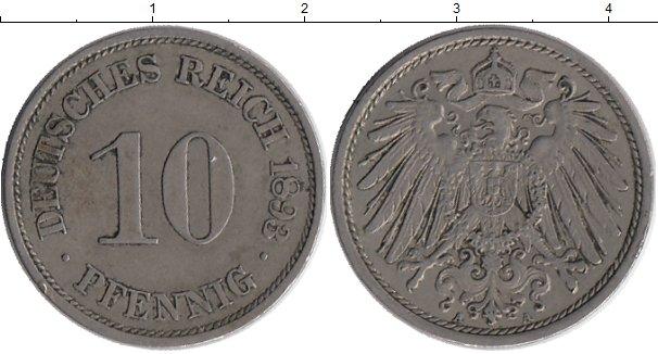 Картинка Монеты Германия 10 пфеннигов Медно-никель 1893