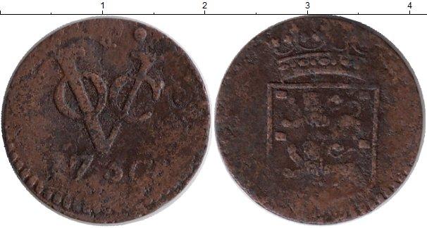Картинка Монеты Нидерландская Индия 1 дьюит Медь 1750