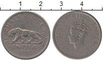 Изображение Монеты Индия 1/2 рупии 1947 Медно-никель XF-