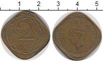 Изображение Монеты Индия 2 анны 1943 Латунь XF