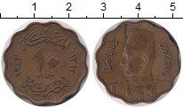 Изображение Монеты Египет 10 миллим 1943 Бронза XF
