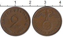 Изображение Монеты Третий Рейх 2 пфеннига 1940 Бронза XF