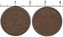 Изображение Монеты Германия Третий Рейх 2 пфеннига 1938 Бронза XF
