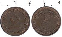 Изображение Монеты Германия Третий Рейх 2 пфеннига 1939 Бронза XF