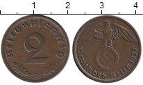 Изображение Монеты Германия Третий Рейх 2 пфеннига 1937 Бронза XF