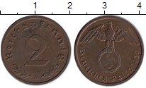 Изображение Монеты Третий Рейх 2 пфеннига 1939 Бронза XF