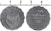 Изображение Монеты Руанда 2 франка 1970 Алюминий UNC-